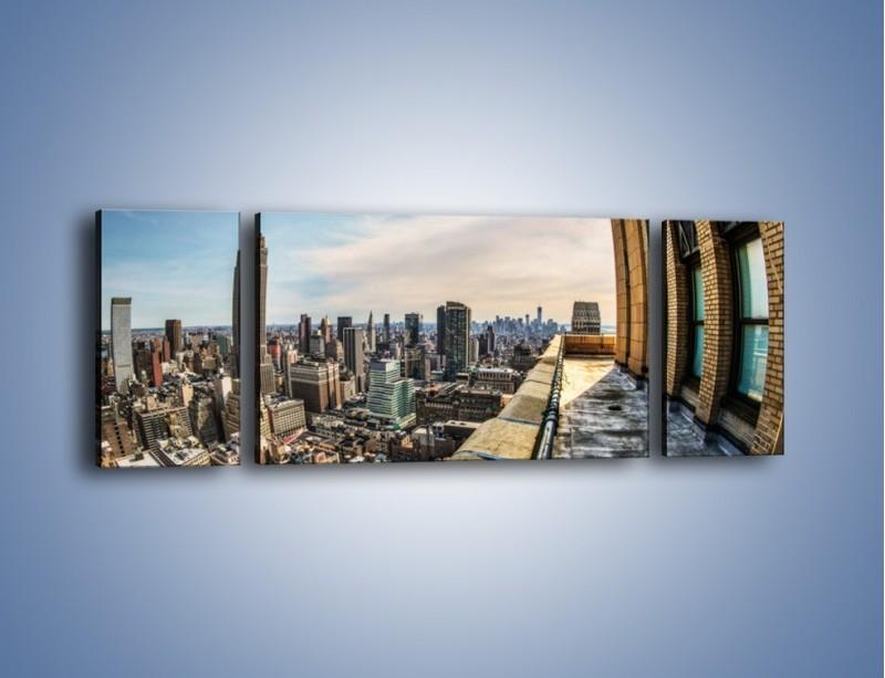 Obraz na płótnie – Empire State Building na Manhattanie – trzyczęściowy AM610W5