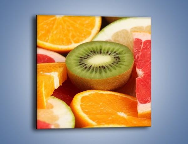 Obraz na płótnie – Kolorowe połówki owoców – jednoczęściowy kwadratowy JN026