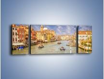 Obraz na płótnie – Canal Grande w Wenecji o poranku – trzyczęściowy AM617W5