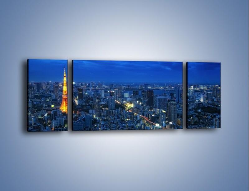 Obraz na płótnie – Tokyo Tower w Japonii – trzyczęściowy AM621W5