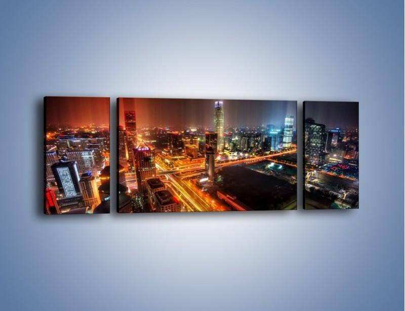 Obraz na płótnie – Niesamowite kolory Pekinu – trzyczęściowy AM632W5