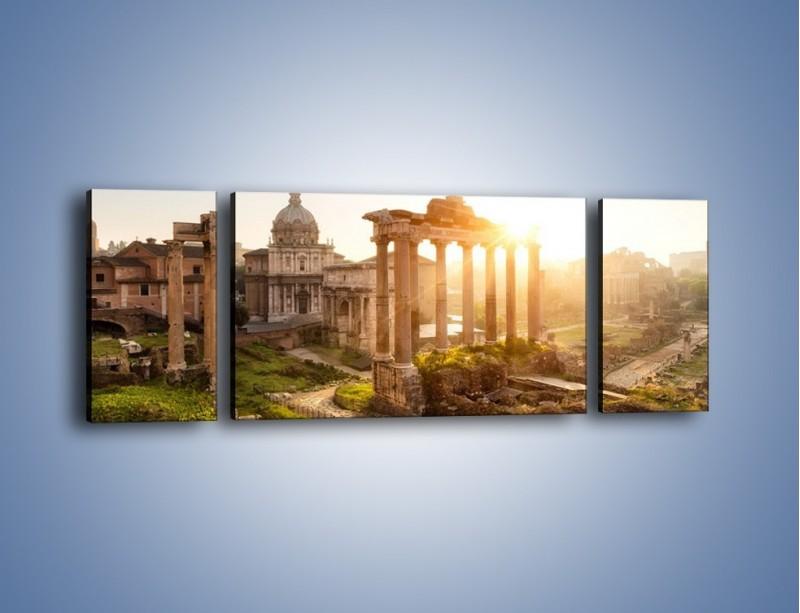 Obraz na płótnie – Starożytna architektura Rzymu – trzyczęściowy AM638W5
