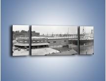 Obraz na płótnie – Amerykańskie doki na początku XX wieku – trzyczęściowy AM641W5