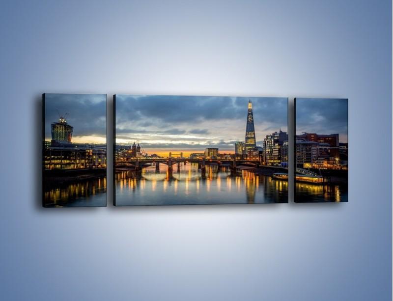 Obraz na płótnie – Millennium Bridge w Londynie – trzyczęściowy AM651W5