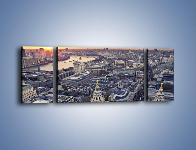 Obraz na płótnie – Widok na Londyn z Katedry św. Pawła – trzyczęściowy AM652W5