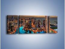 Obraz na płótnie – Centrum Dubaju wieczorową porą – trzyczęściowy AM656W5
