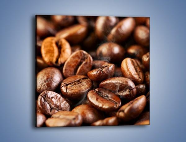 Obraz na płótnie – Parzone ziarna kawy – jednoczęściowy kwadratowy JN027