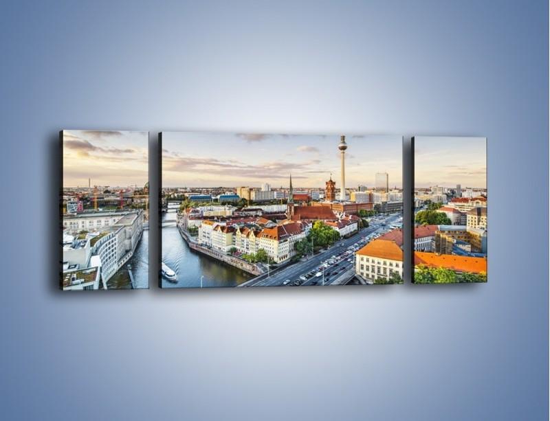 Obraz na płótnie – Panorama Berlina – trzyczęściowy AM673W5