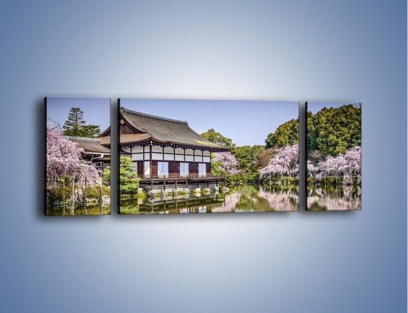 Obraz na płótnie – Świątynia Heian Shrine w Kyoto – trzyczęściowy AM677W5