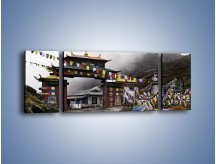 Obraz na płótnie – Brama do miasta Tawang w Tybecie – trzyczęściowy AM689W5