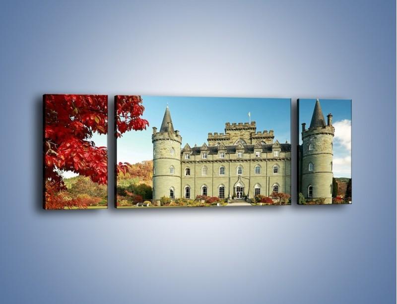 Obraz na płótnie – Zamek Inveraray w Szkocji – trzyczęściowy AM691W5