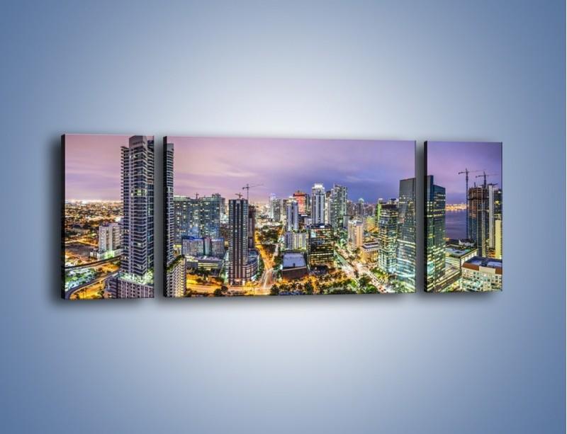Obraz na płótnie – Centrum Miami – trzyczęściowy AM702W5