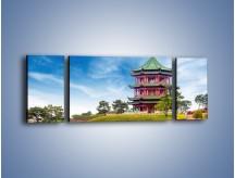 Obraz na płótnie – Chiński ogród w Singapurze – trzyczęściowy AM715W5