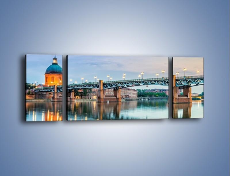 Obraz na płótnie – Most Saint-Pierre w Tuluzie – trzyczęściowy AM721W5