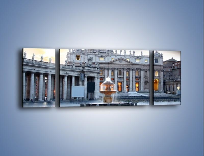 Obraz na płótnie – Bazylika św. Piotra w Watykanie – trzyczęściowy AM722W5