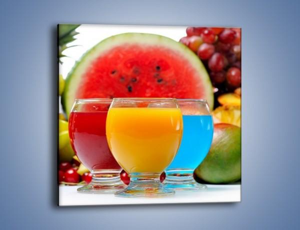 Obraz na płótnie – Kolorowe drineczki z soczystych owoców – jednoczęściowy kwadratowy JN029