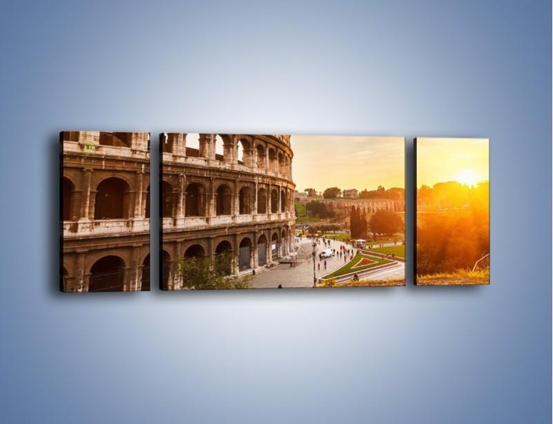 Obraz na płótnie – Zachód słońca nad Rzymem – trzyczęściowy AM763W5