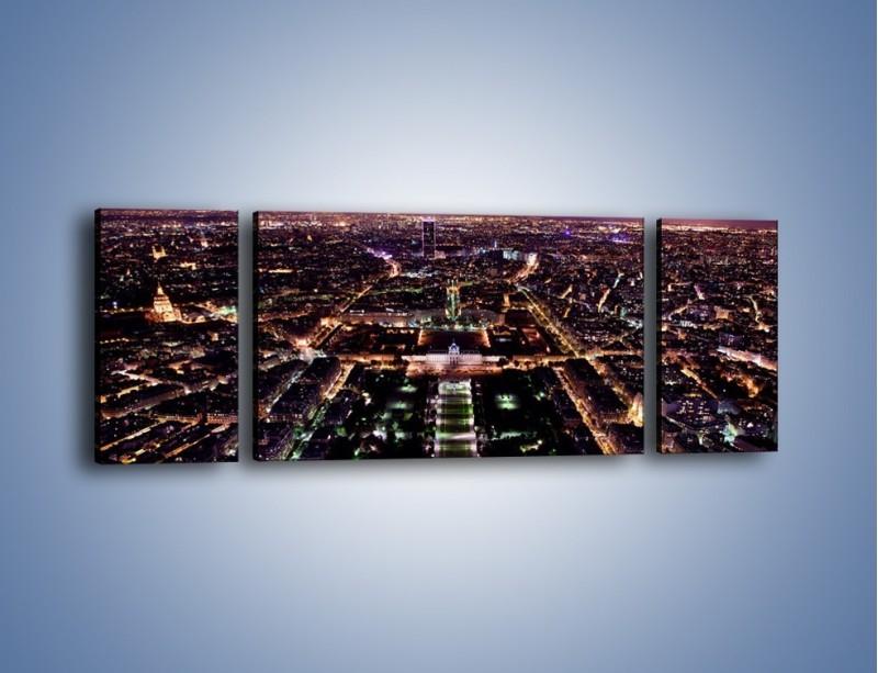 Obraz na płótnie – Panorama Paryża z Wieży Eiffla – trzyczęściowy AM764W5