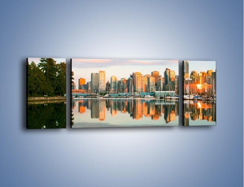 Obraz na płótnie – Widok na Vancouver – trzyczęściowy AM765W5