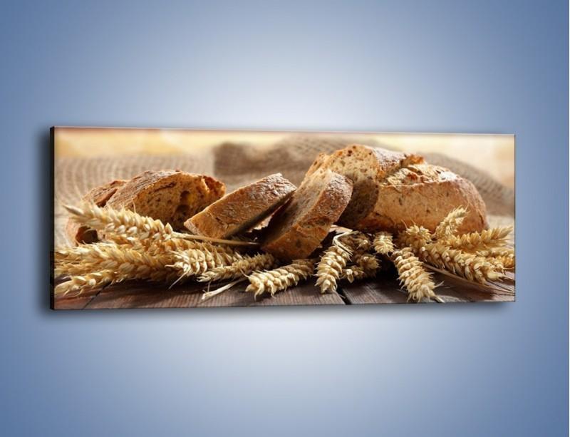Obraz na płótnie – Świeży pszenny chleb – jednoczęściowy panoramiczny JN287