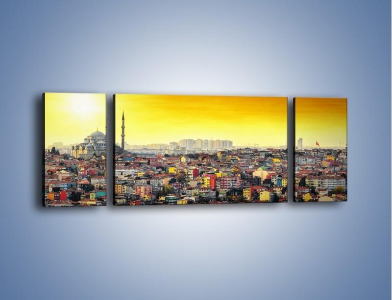 Obraz na płótnie – Zachód słońca nad Stambułem – trzyczęściowy AM788W5