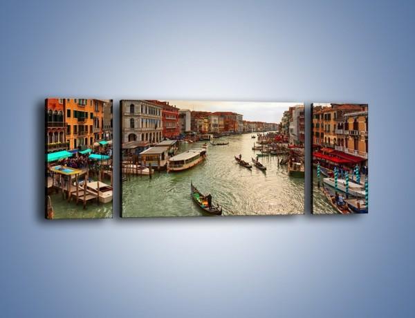Obraz na płótnie – Wenecka architektura w Canal Grande – trzyczęściowy AM810W5