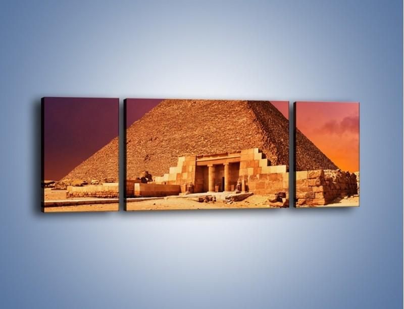 Obraz na płótnie – Piramida w Egipcie – trzyczęściowy AM812W5