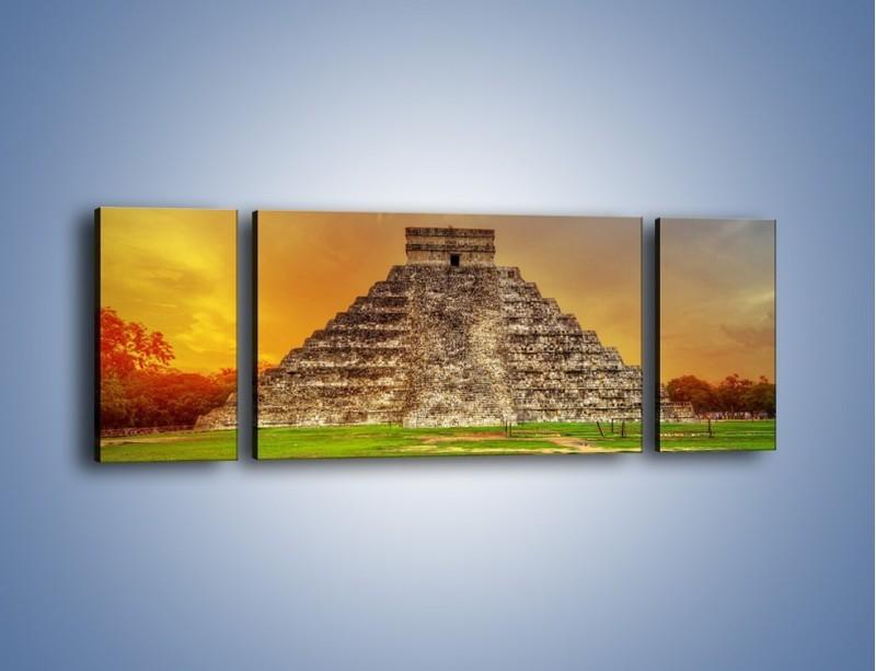 Obraz na płótnie – Piramida Kukulkana w Meksyku – trzyczęściowy AM814W5