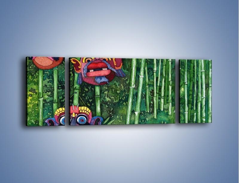 Obraz na płótnie – Maski dzikiego plemienia – trzyczęściowy GR051W5