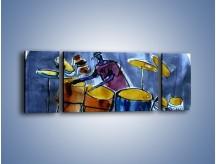 Obraz na płótnie – Gorące rytmy wybite na bębnach – trzyczęściowy GR070W5