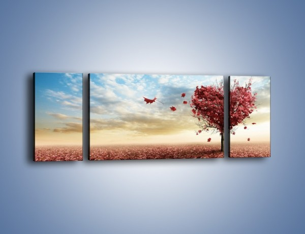 Obraz na płótnie – Serce do przyrody – trzyczęściowy GR114W5