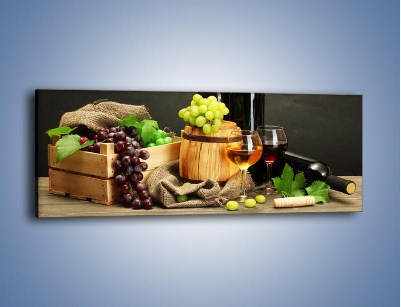 Obraz na płótnie – Wytrawne smaki wina – jednoczęściowy panoramiczny JN289