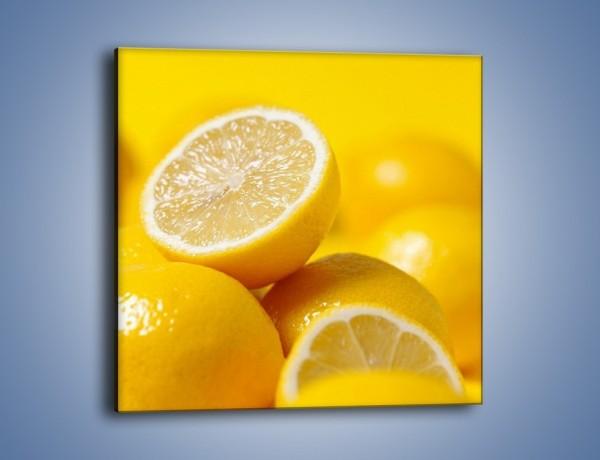 Obraz na płótnie – Kwaśne soczyste cytrynki – jednoczęściowy kwadratowy JN031