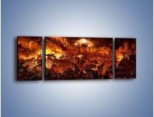 Obraz na płótnie – Bitwa z demonami – trzyczęściowy GR137W5