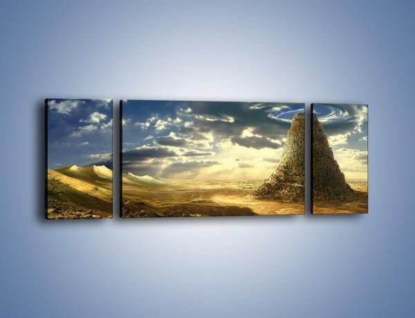 Obraz na płótnie – Przez górę aż do chmur – trzyczęściowy GR139W5