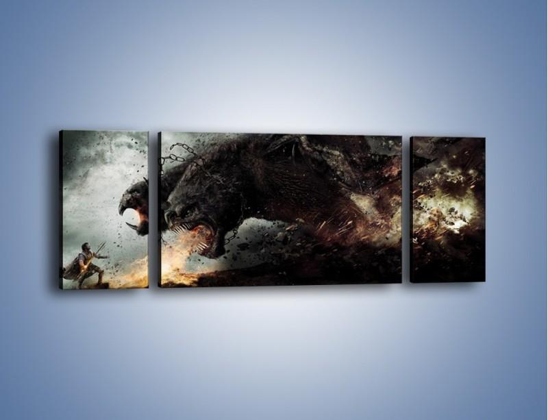 Obraz na płótnie – Groźny podmuch potworów – trzyczęściowy GR174W5