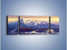 Obraz na płótnie – Górskim szlakiem z cudnym widokiem – trzyczęściowy GR194W5