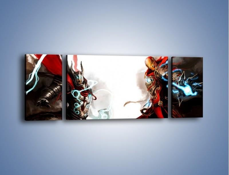 Obraz na płótnie – Walka z potężną siłą – trzyczęściowy GR207W5