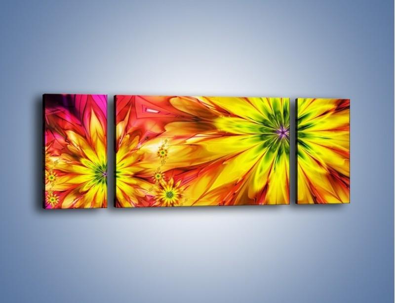 Obraz na płótnie – Moc w kwiecie – trzyczęściowy GR243W5