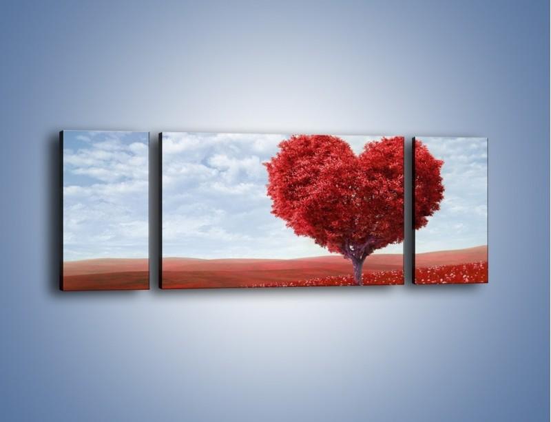 Obraz na płótnie – Polaną w stronę miłości – trzyczęściowy GR249W5