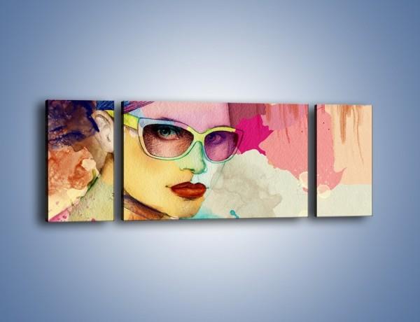 Obraz na płótnie – Okulary idealnie dopasowane – trzyczęściowy GR327W5