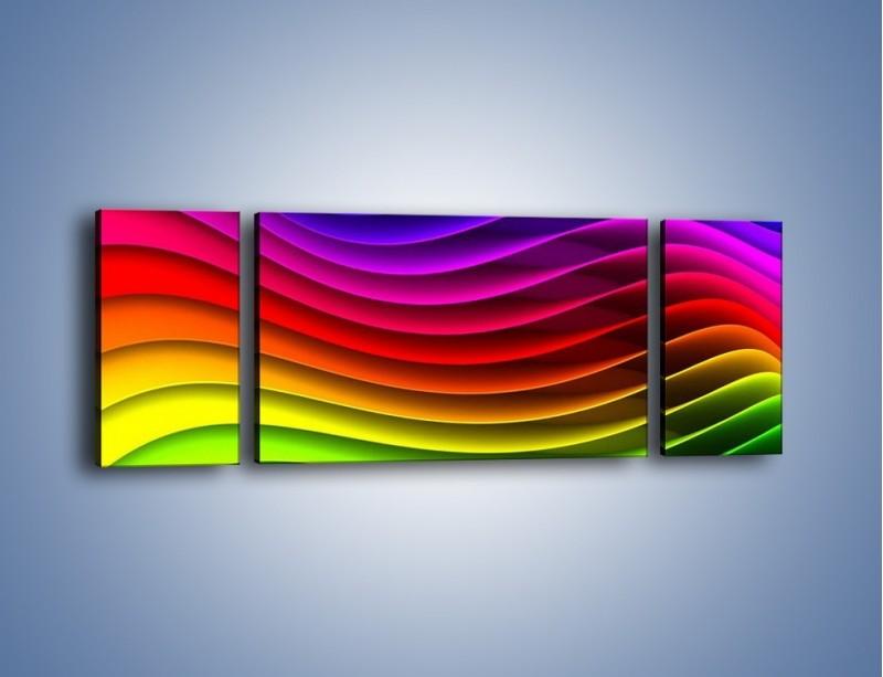 Obraz na płótnie – Falą w kolorze – trzyczęściowy GR393W5