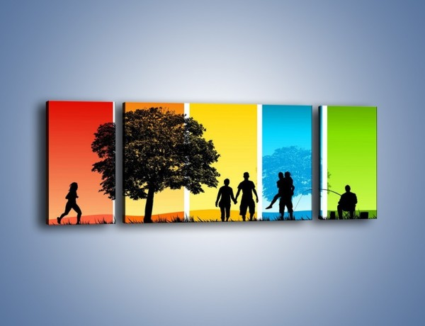 Obraz na płótnie – Kadr z życia – trzyczęściowy GR396W5