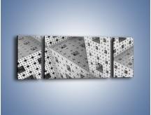 Obraz na płótnie – Budynki z klocków – trzyczęściowy GR410W5