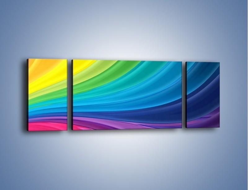 Obraz na płótnie – Zachowane kolory tęczy – trzyczęściowy GR424W5