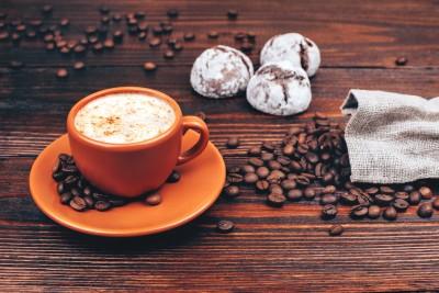 Kawa w pomarańczowej filiżance - JN756