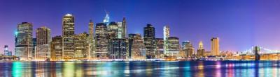 Kolorowa panorama Nowego Yorku - AM479