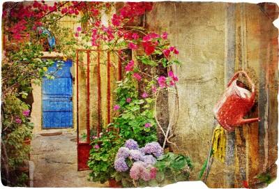 Mała uliczka w Grecji vintage - AM191