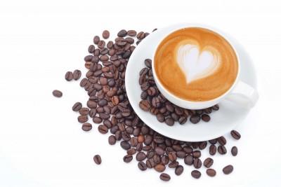 Miłość i kawa na białym tle - JN633