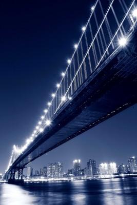 Nowojorski most w odcieniach niebieskiego - AM207